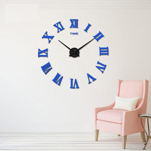 2018  New Arrival Quartz Clocks Fashion Watches 3D Real Big Promotion Home Decor Large Roman Mirror Fashion Modern Wall Clock