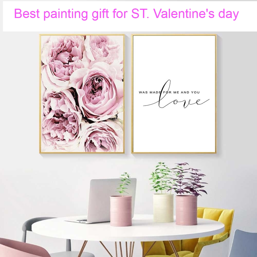 Flower Painting Wall Art Canvas Posters, Nordic Prints