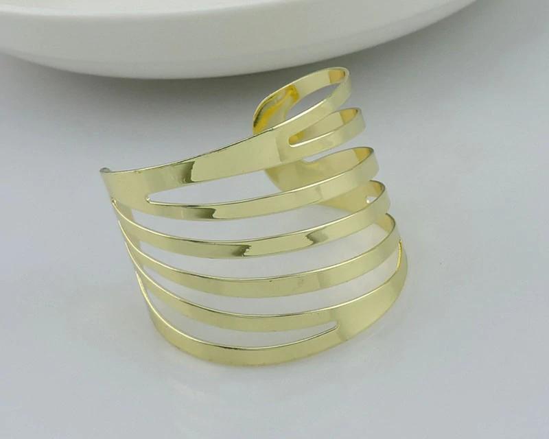 Golden metal napkin ring